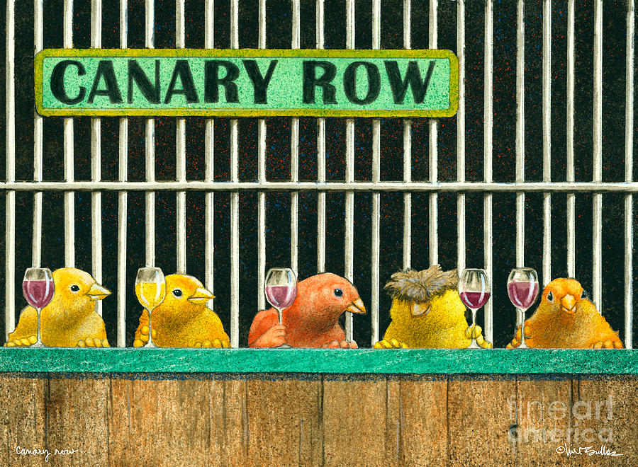 Canary Row... Painting  - Canary Row... Fine Art Print