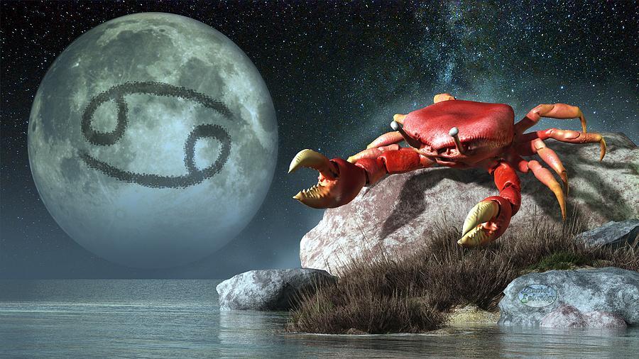 Cancer Zodiac Symbol Digital Art