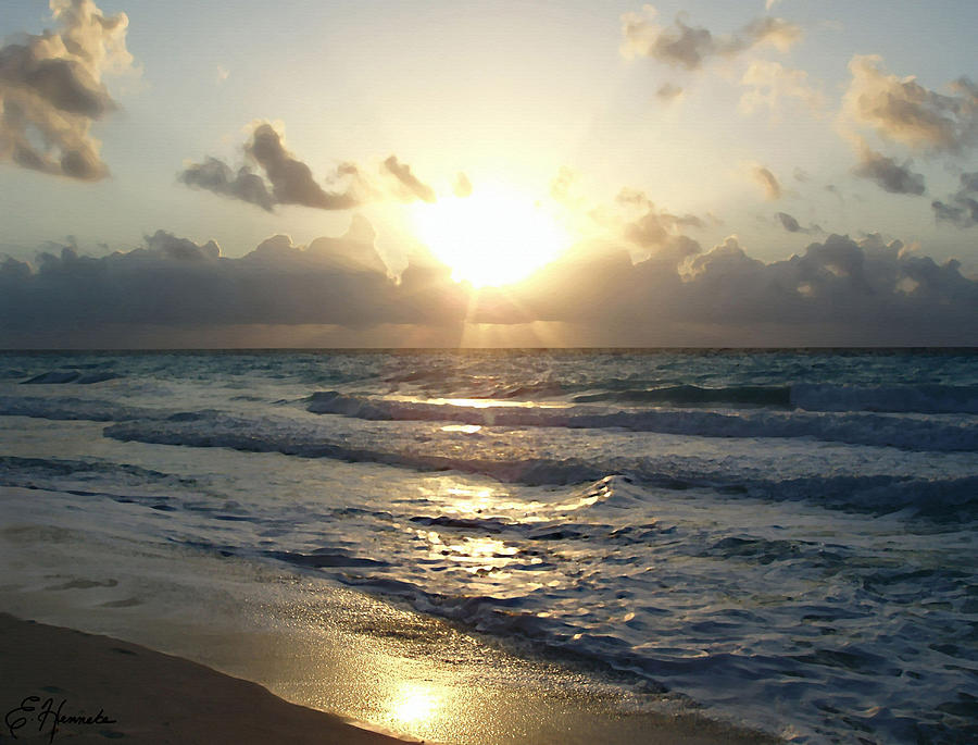 Cancun Sunrise Painting  - Cancun Sunrise Fine Art Print