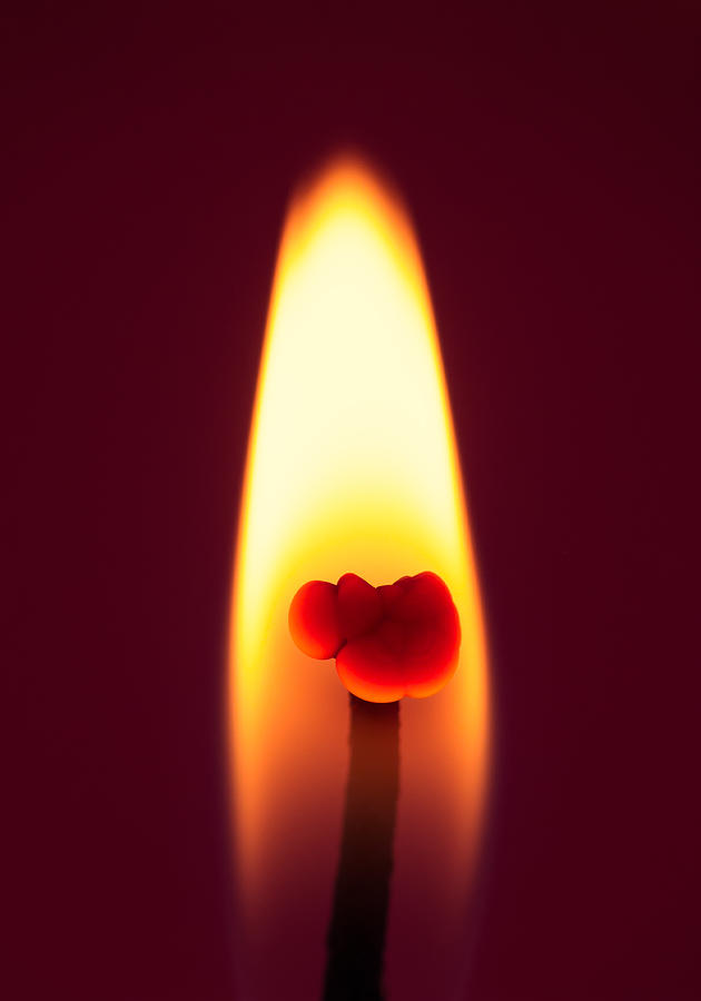Candle Flame Macro Photograph  - Candle Flame Macro Fine Art Print