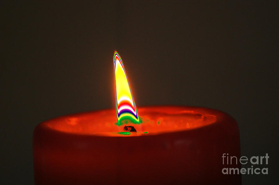 Candle Light Digital Art  - Candle Light Fine Art Print