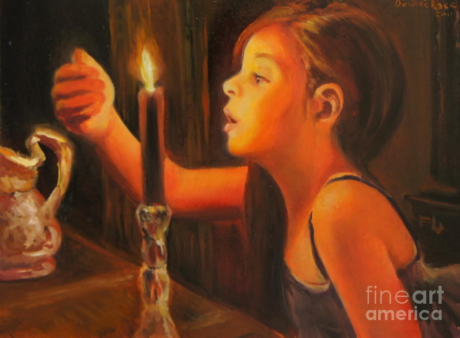 Candle Light Painting  - Candle Light Fine Art Print