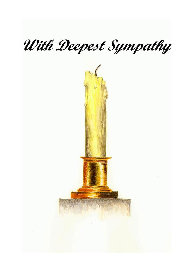 Candle with deepest sympathy painting by michael vigliotti for Candle painting medium