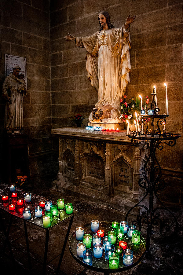 Candlelit Altar Photograph