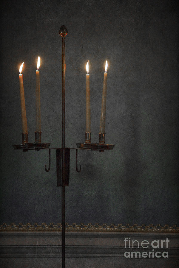 Candles In The Dark Photograph