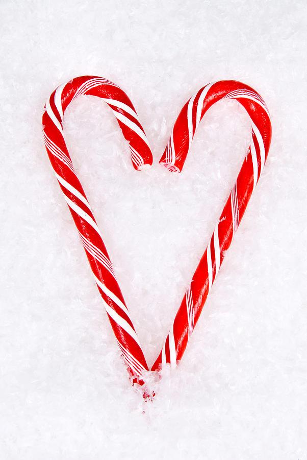 Candy cane heart photograph by joe belanger