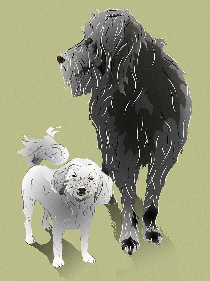 Canine Friendship Digital Art  - Canine Friendship Fine Art Print