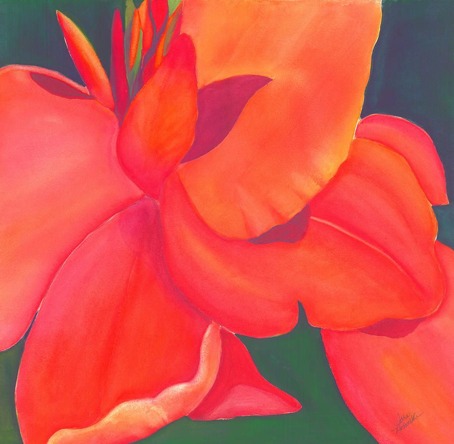 Watercolor Painting - Canna Lily by Debbra Nodwell-Bender