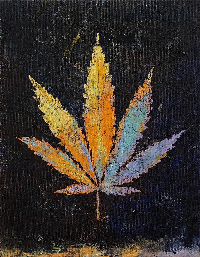 Cannabis Painting - Cannabis by Michael Creese
