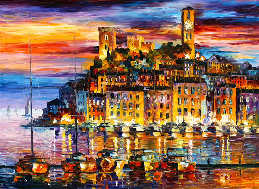 Cannes Painting - Cannes France by Leonid Afremov