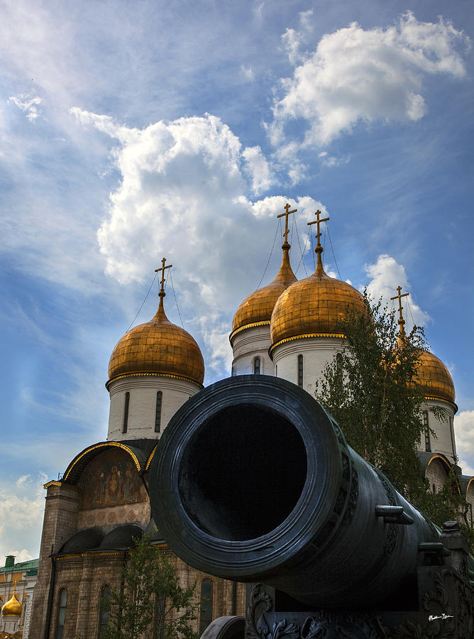 Cannon And Cathedral  - Russia Photograph