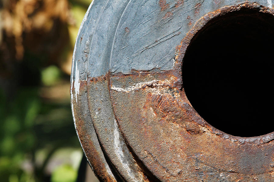 Cannon Barrel Fountain Of Youth Photograph