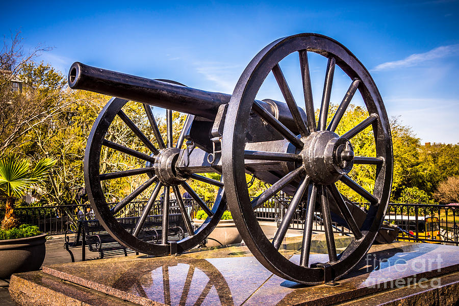 Cannon In New Orleans Washington Artillery Park Photograph  - Cannon In New Orleans Washington Artillery Park Fine Art Print