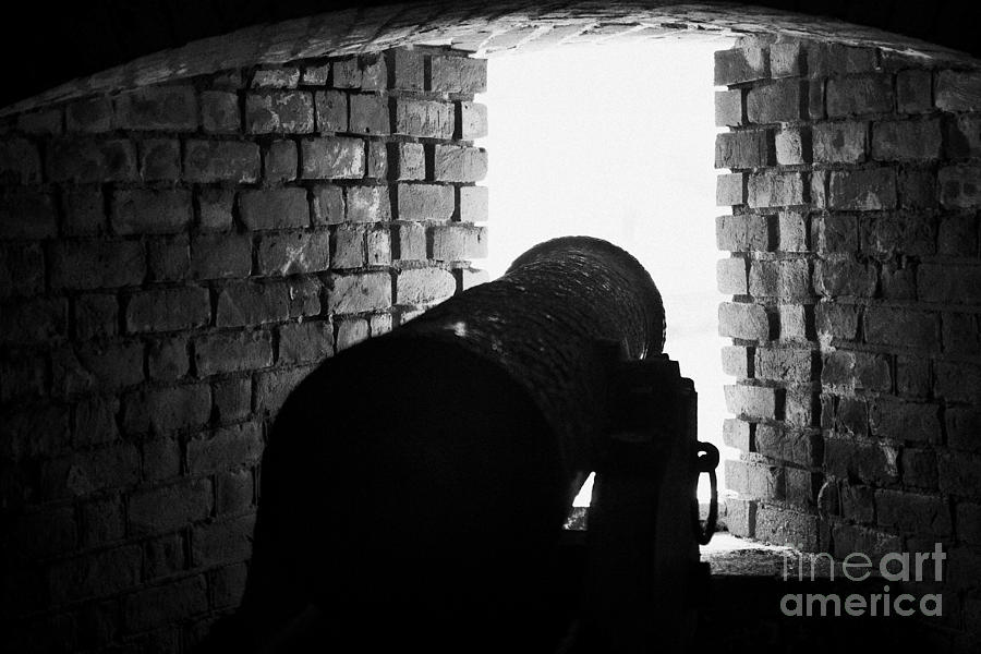 Cannon Pointing Out Of Wall Port In Fort Jefferson Dry Tortugas National Park Florida Keys Usa Photograph  - Cannon Pointing Out Of Wall Port In Fort Jefferson Dry Tortugas National Park Florida Keys Usa Fine Art Print