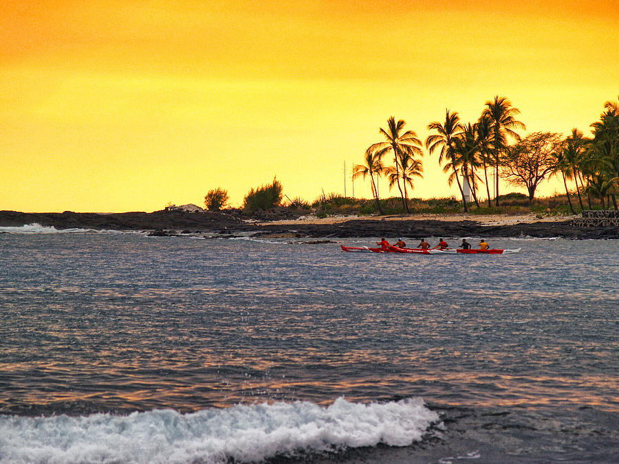 Canoe On Kona Coast Photograph  - Canoe On Kona Coast Fine Art Print