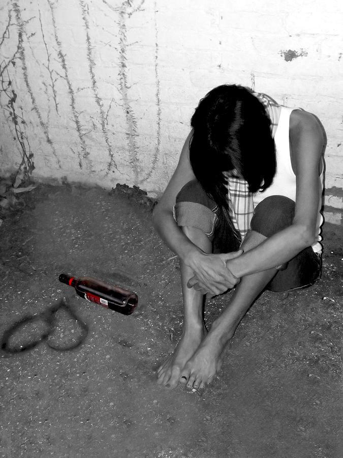 Broken Heart Photograph - Cant Drink You Off My Mind by Kristie  Bonnewell