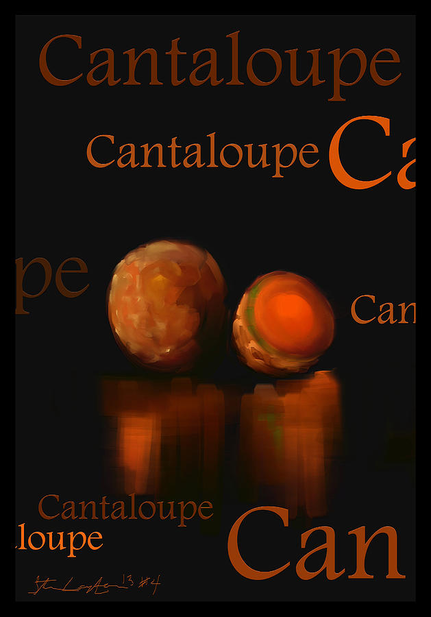Cantaloupe Painting - Cantaloupe - Fruit And Veggie Series - #4 by Steven Lebron Langston