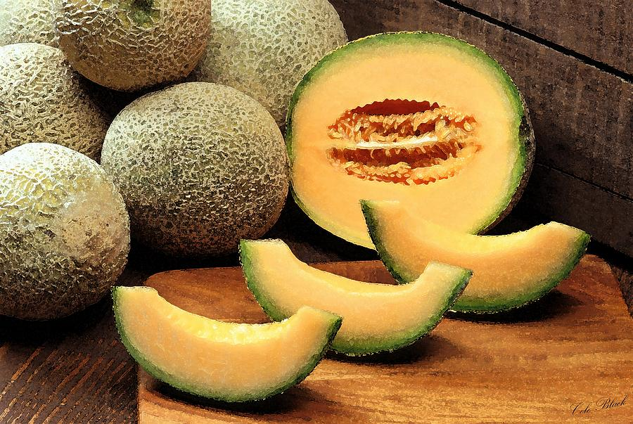 Cantaloupe Slices Painting  - Cantaloupe Slices Fine Art Print