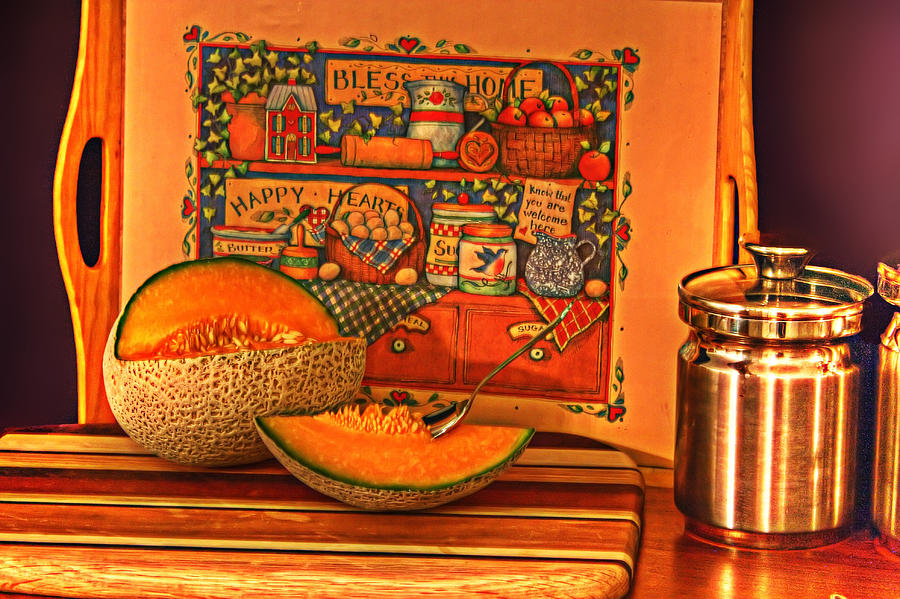 Cantaloupe Photograph - Canteloupe by Regina  Williams