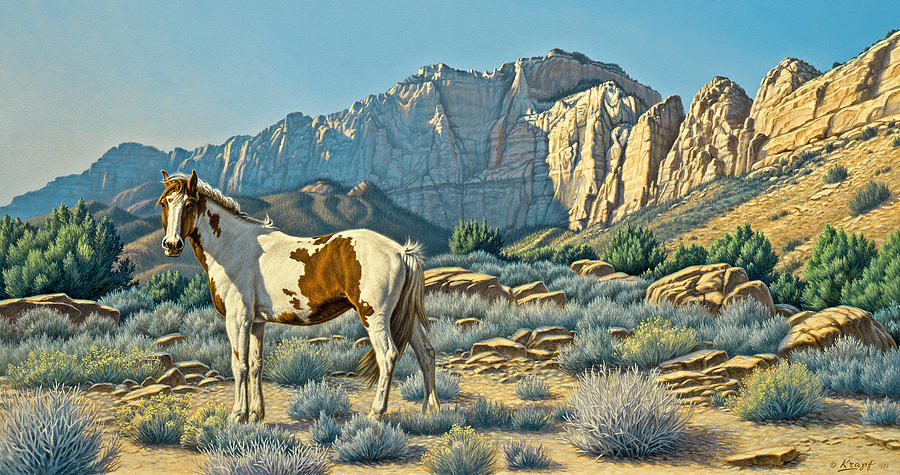 Landscape Painting - Canyon Country Paints by Paul Krapf
