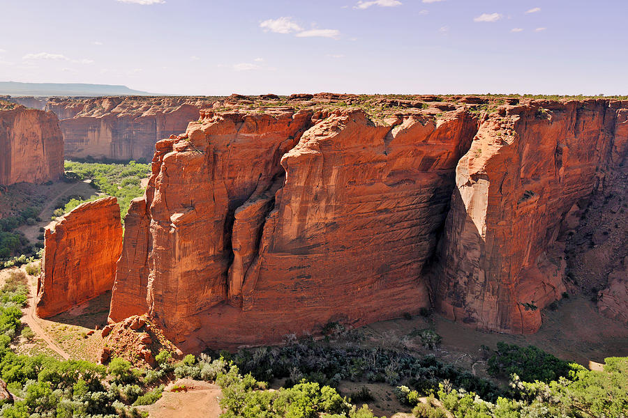 Canyon De Chelly - View From Sliding House Overlook Photograph  - Canyon De Chelly - View From Sliding House Overlook Fine Art Print
