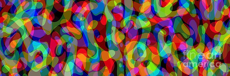 Abstract Digital Art - Canyon Long 13e - 1b - 5d by Steve Mason