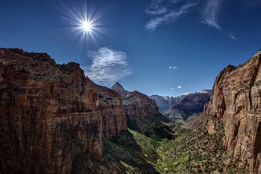 Jeff Photograph - Canyon Overlook by Jeff Burton