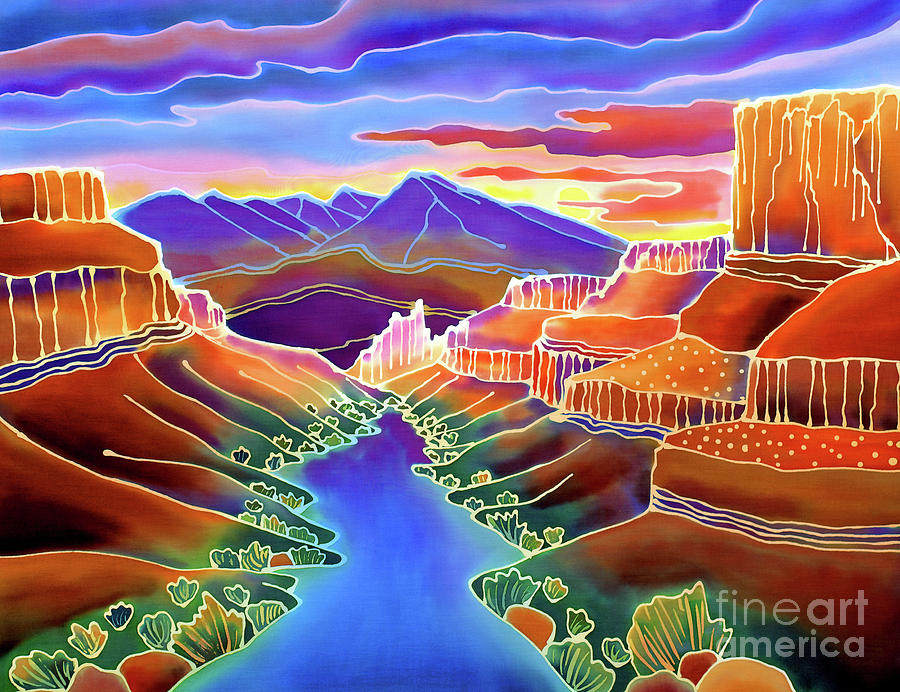 Canyon Sunrise Painting  - Canyon Sunrise Fine Art Print