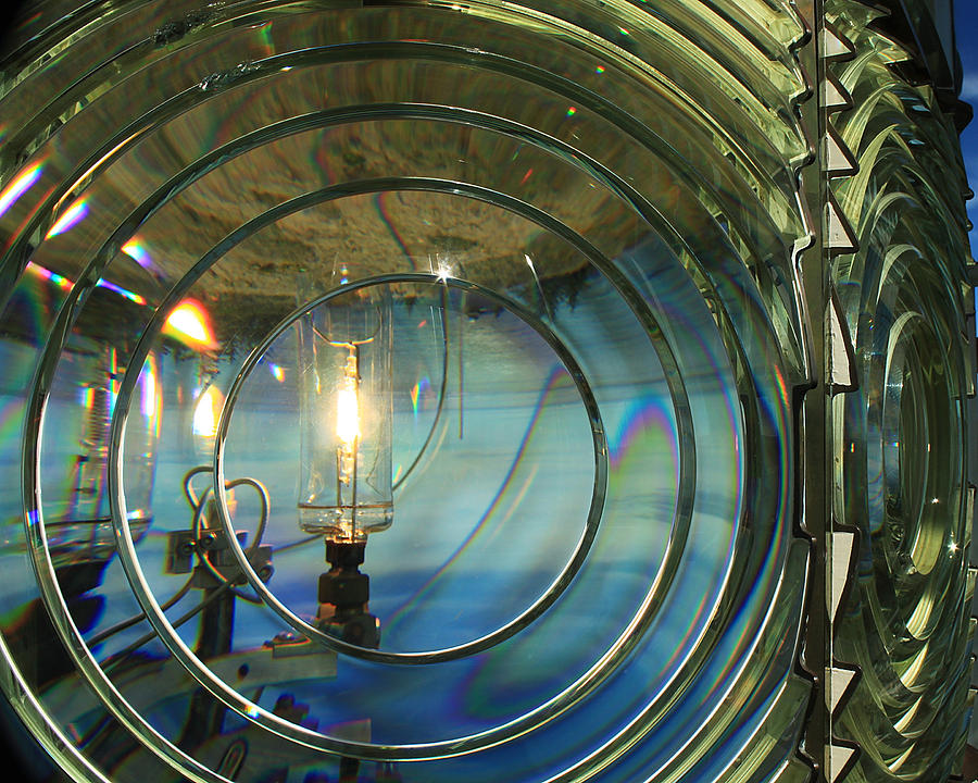 Cape Blanco Lighthouse Lens Photograph