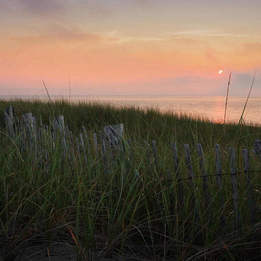 Cape Cod Bay Sunset Square Photograph