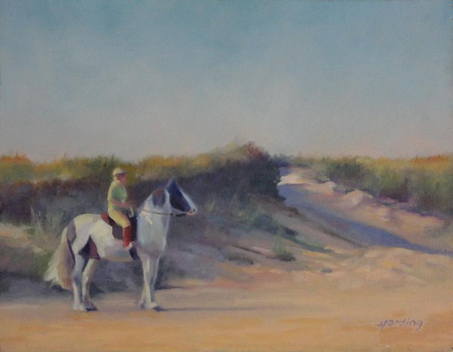 Cape Cod Beach Rider Painting  - Cape Cod Beach Rider Fine Art Print