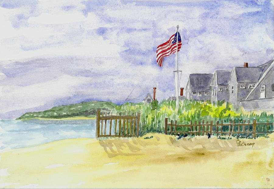 Cape Cod Cottages Painting  - Cape Cod Cottages Fine Art Print