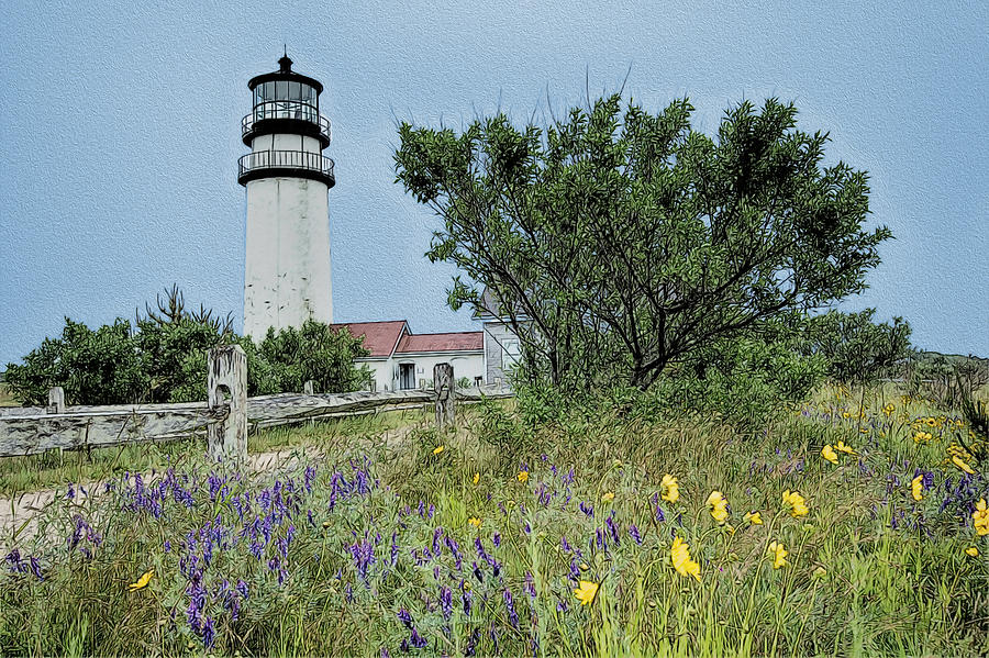 Cape Cod Lighthouse Painting  - Cape Cod Lighthouse Fine Art Print