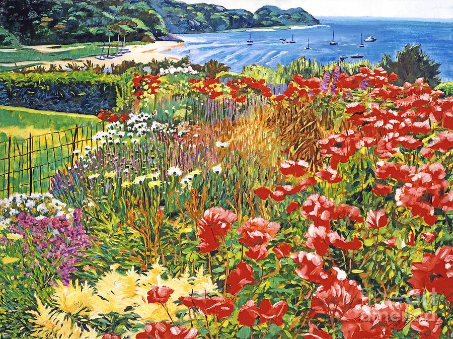 Seascape Painting - Cape Cod Ocean Garden by David Lloyd Glover