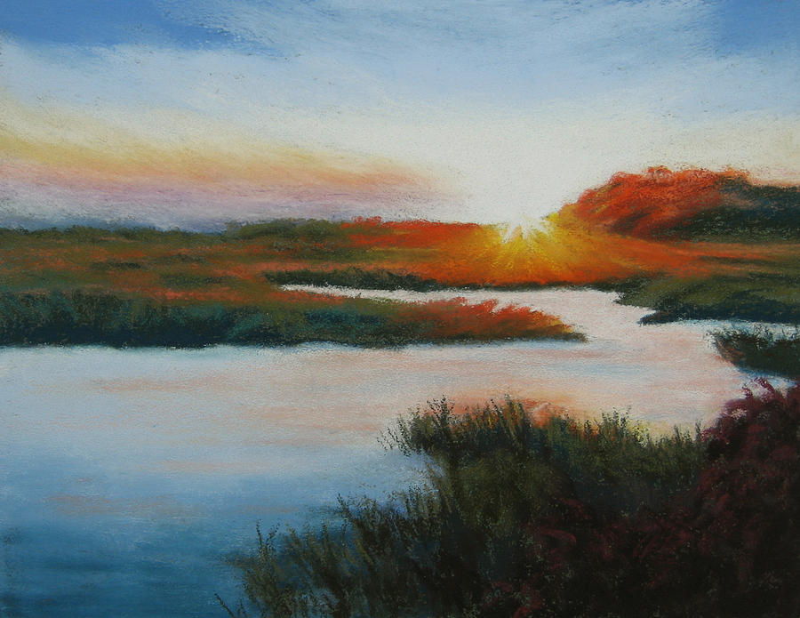 Cape Cod Sunset 2 Pastel  - Cape Cod Sunset 2 Fine Art Print
