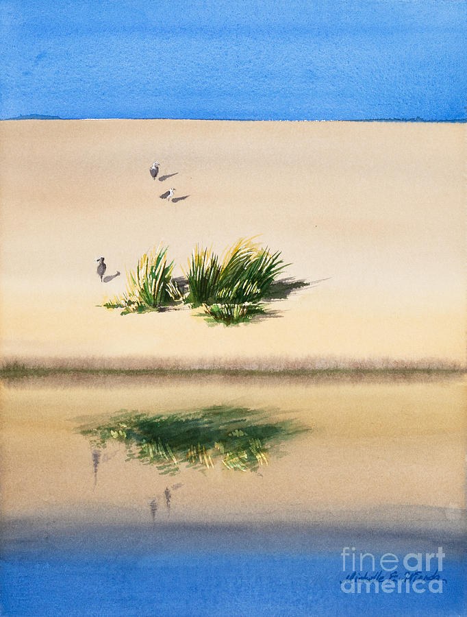 Cape Dune Watercolor Painting  - Cape Dune Watercolor Fine Art Print