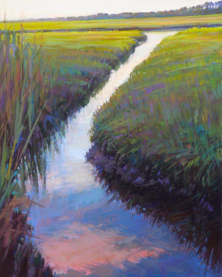 Cape Cod Painting - Cape Marsh by Ed Chesnovitch