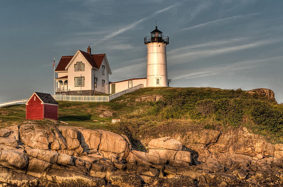 Cape Neddick Lighthouse In Evening Light Photograph