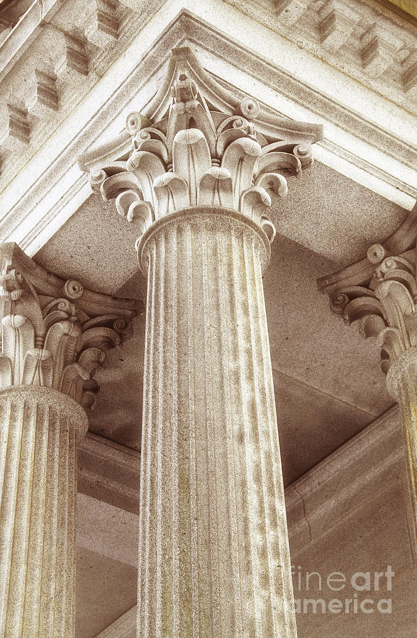 Column Photograph - Capital Of The Column by Charline Xia