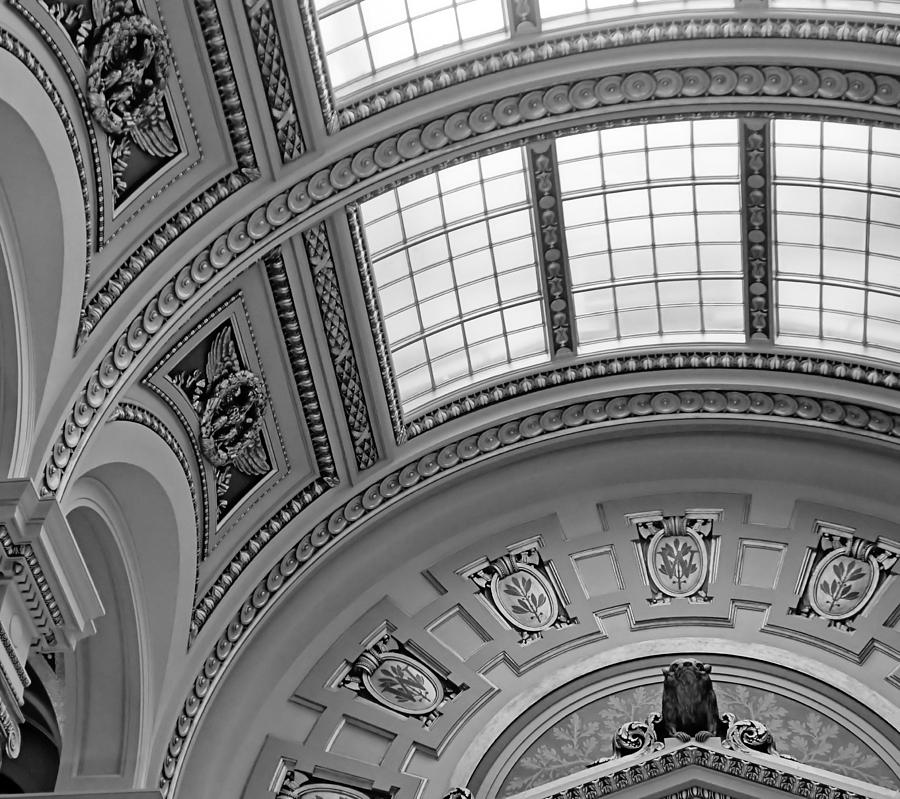 Capitol Architecture - Bw Photograph