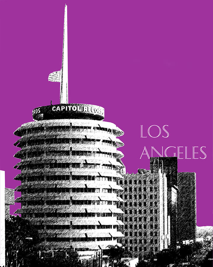 Capitol Records Digital Art  - Capitol Records Fine Art Print