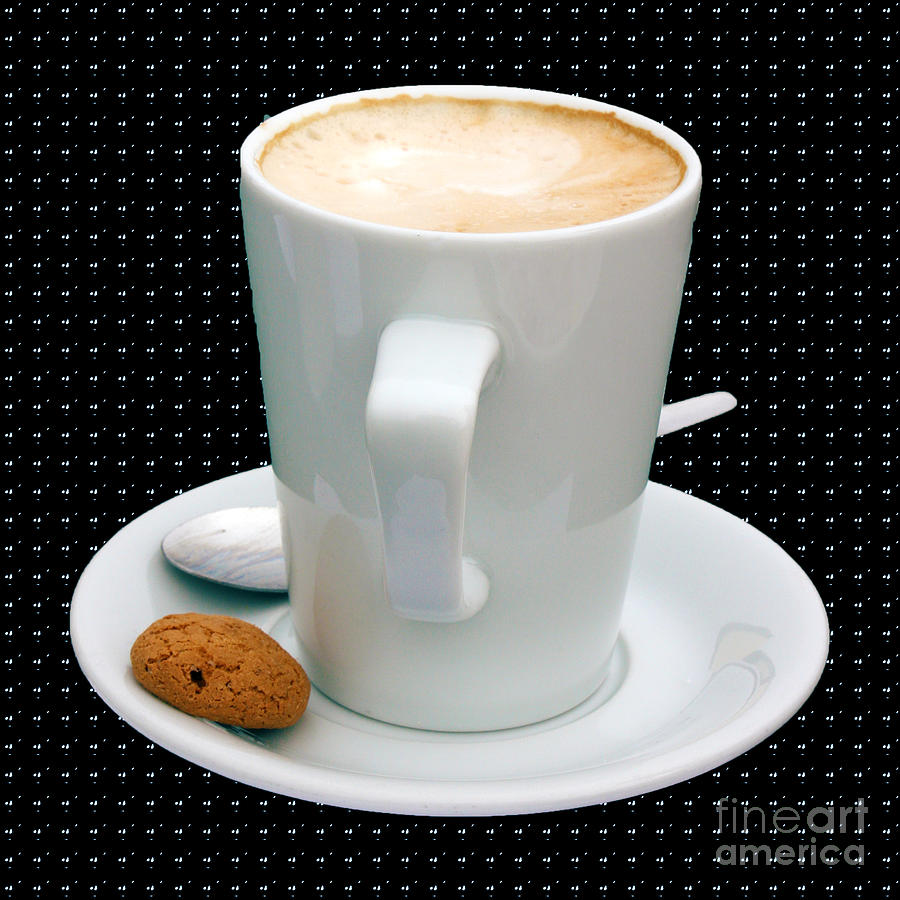 Cappuccino With An Amaretti Biscuit Photograph  - Cappuccino With An Amaretti Biscuit Fine Art Print
