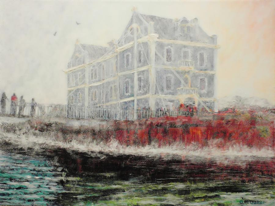 Captains Manor In The Fog Painting