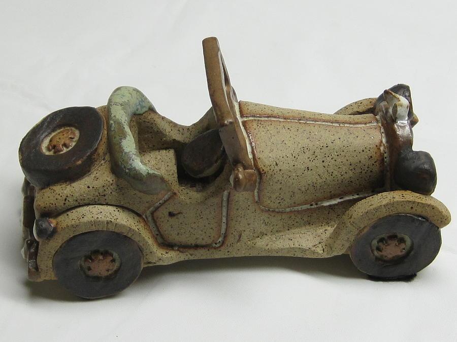 Ceramic Art - Car 01 by Val Camilleri