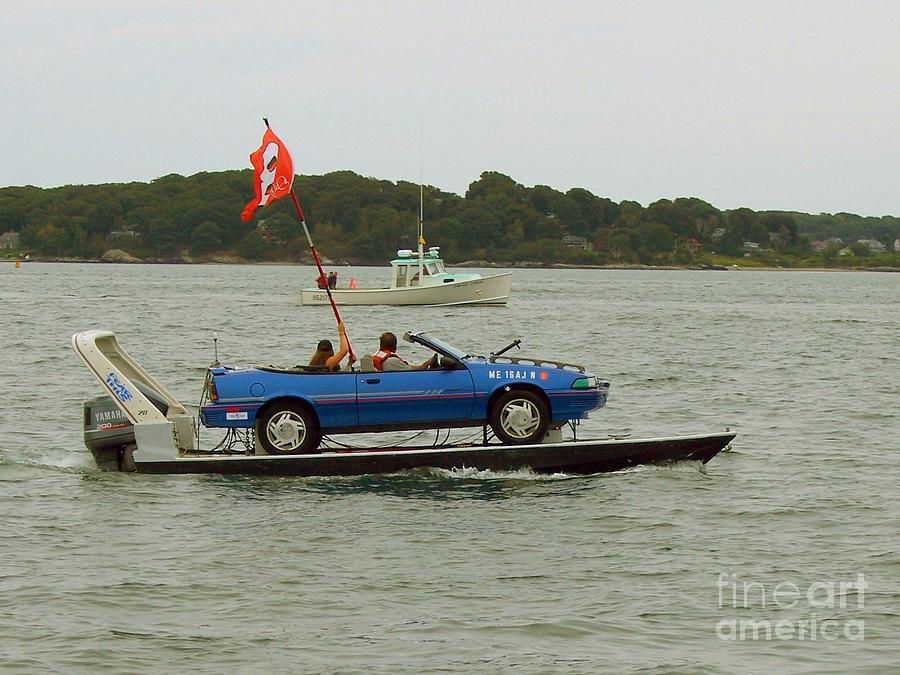 Car-boat Racing Photograph - Car-boat Racing Fine Art Print