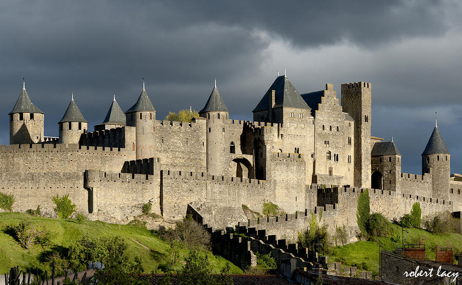 Carcassonne Photograph - Carcassonne Stormy Skies by Robert Lacy