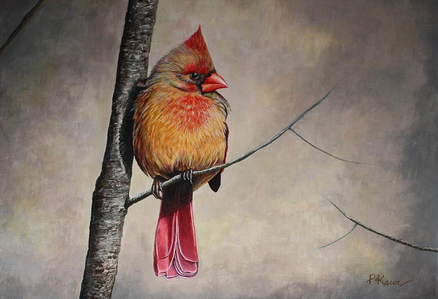 Cardinal Painting - Cardinal by Pam Kaur