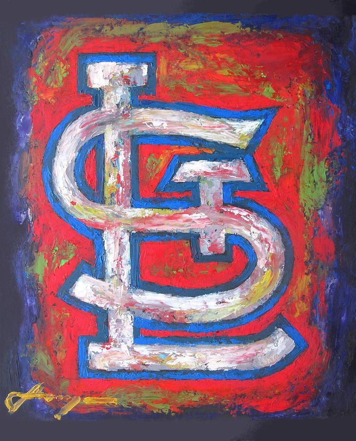 St Louis Cardinals Baseball Painting