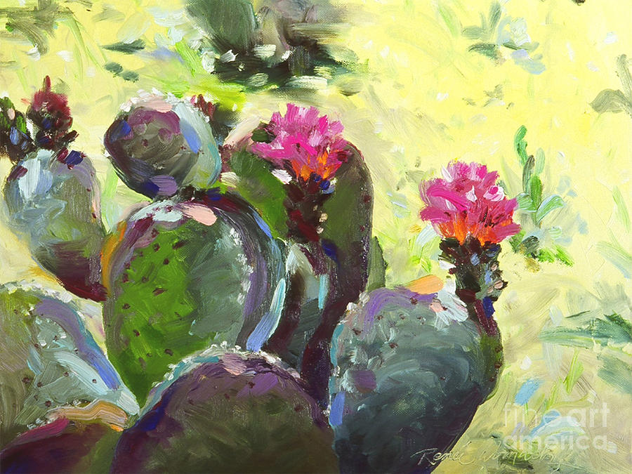 Carefree Cactus Painting