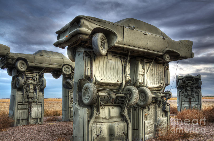 Carhenge Automobile Art 2 Photograph